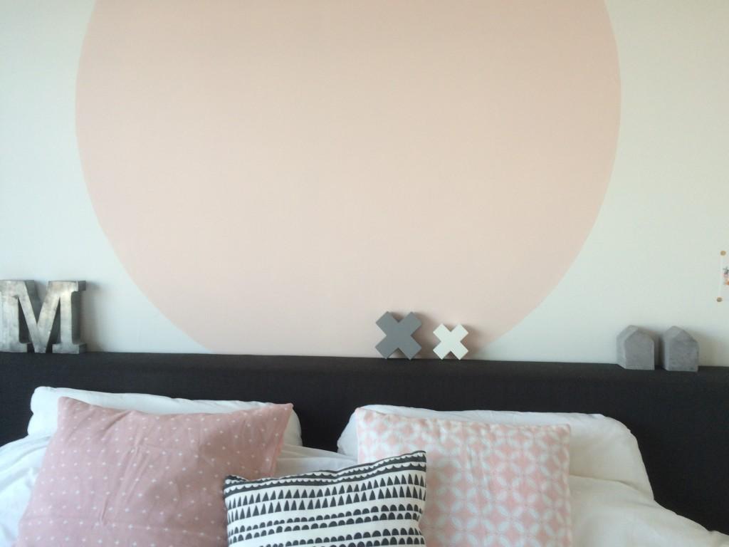 Slaapkamer metamorfose: cirkel van verf | Stefanie Jansen