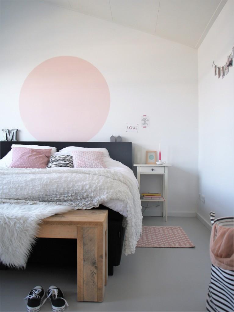 Slaapkamer roze cirkel